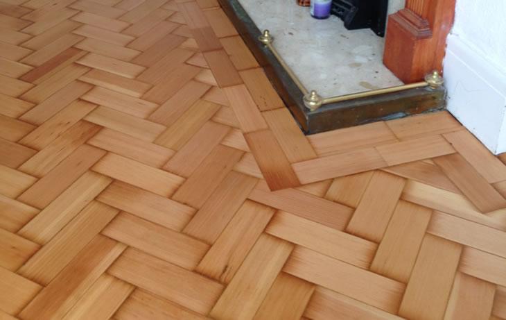 A Herringbone Parquet Floor After Restoration